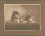 Portrait of Agnes Renée and Irène Heloise Pauw van Wieldrecht, daughters of the photographer, in a pose borrowed from …