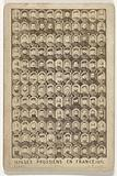 Collection (mosaic) of heads of German (Prussian) soldiers during the Franco-Prussian War ('TYPES / DE SOLDATS / …