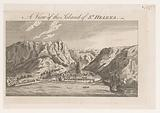 View of Jamestown on the island of Saint Helena west of the African coast