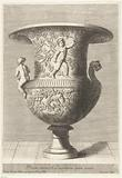 Vase covered with vines