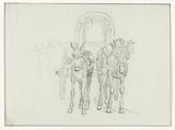 Italian carriage with mules