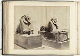 Two sphinxes on a block