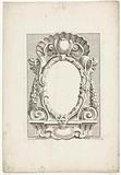 Cartouche with upright oval compartment