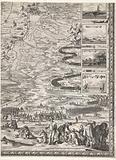 Large map of the siege of Den Bosch by Frederik Hendrik (bottom right corner), 1629
