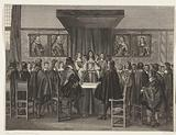 King Charles II of England addresses the standing members of the States General, 1660