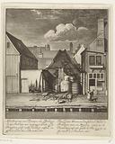 Ruin of a half-burnt turpentine oil roasting house on the Passeerdersgracht, 1683
