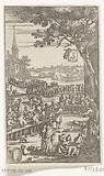 Banquet at the funeral of Gerrit Dirksz. Den Uyl, innkeeper at Sloten, 1680.