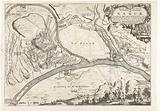 Map of the city of Namur with the castle, besieged by the French army, 1692