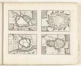 Maps of Metz, Phalsbourg, Toul and Nancy, c 1702