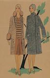 Très Parisien, 1928, No 9: 8.- JEUNESSE. Manteau and Kadsourah….
