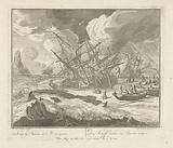 Ship sinks in the ice during a storm, c 1725