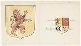 Two coats of arms