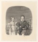 Portrait of Willem Anne baron of Constant Rebecque de Villars and his sister Clara Margaretha Francesca of Constant …