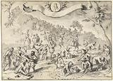 Draft for the print Greed tries to overtake Fortuna, 1720