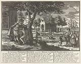 Frederik Hendrik grants mercy to the naked actionists, 1720
