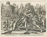 Joab murders Amasa: the fifth Commandment.