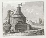 Baking oven in the open air