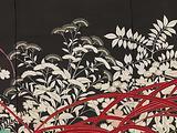 Women's kimono decorated with pheasants and autumn plants