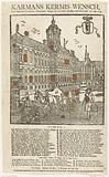 Fairground print of the Amsterdam cartman for the year 1754