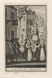 Parade with the Pinksterblom at Schermerhorn, c 1750