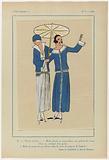Très Parisien, 1923, No 6: 9.- PLEIN SOLEIL. – 1. Robe pleated and jersey blane uni….