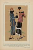 Très Parisien, 1923, No 11: 1 – DEUX AMIES. – Charming tailor de velours….