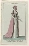 Journal des Dames et des Modes, Costume Parisien, 29 January 1799, An 7. Capote de Satin Ros (…).