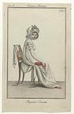 Journal des Dames et des Modes, Costume Parisien, 7 October 1799, An 8. Chapeau-Cornette.