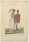 Incroyables et Merveilleuses, 1815, Merveilleuse No 25: Chapeau de paill (…).
