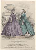 Moniteur des Dames et des Demoiselles, c 1863, no. 670: Toilettes et Etoffes (…).