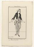 Journal des Dames et des Modes, Costumes Parisiens, 1914, No 169: Jupe de satin bordeaux (…).