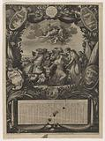 Calender for 1659: Allegory on the Submission of Flanders to Louis XIV.