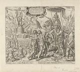 Nebuchadnezzar accuses Sadrach, Meshach, and Abednego