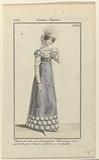 Journal des Dames et des Modes, Costume Parisien, 5 Novembre 1819. Chapeau de satin (…).