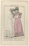 Journal des Dames et des Modes, Costume Parisien, 5 août 1824. Bonnet de mousselin (…).