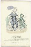 Journal des Dames et des Modes, Costumes Parisiens, 1837. Robe de mousselin (…).