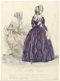 Musée des Modes Parisiennes, 1843: Redingote de satin (…).