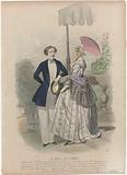 Les Modes Parisiennes, 11 Avril 1847, No 215: Chapeau des Delles Romain (…).