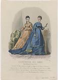 L'Illustrateur des Dames, c 1867, no. 215: Toilettes de Mme Elis (…).