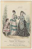 Journal des Demoiselles et Petit Courrier des Dames Réunis, Août 1873, No 3903: Etoffes des Magasins (…).