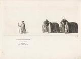 The first two harness horses in front of the hearse in the funeral procession of Princess Maria Louise, 1765