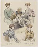 Les Grandes Modes de Paris, Supplement, ca1908, no. 107. 1143: Blouses Nouvelles.