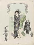 Lady in a black hawk dress, W 360