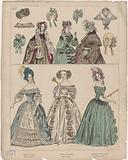 Townsend's Monthly Selection of Parisian Costumes, 1837, No 681: Turban and velor (…).