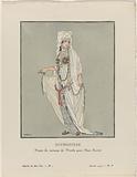 Gazette du Bon Ton, 1914, No 1. Q: Sophonisbe / Projet de Costume de Worth pour Mme Bartet.