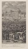 Rearguard of the procession of King Louis XIV of France on the Pont-Neuf
