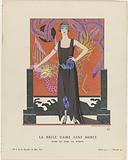 Gazette du Bon Ton, 1921 – No 6. 47: La belle dame sans merci / Robe du soir, the Worth.