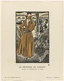 Gazette du Bon Ton, 1921 – No 10: Le déjeuner au cabaret / Tailleur, and cottaperllaine de Rodier.