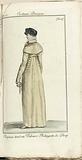 Journal des Dames et des Modes, Costume Parisien, 1805, An 13 Chapeau tout en Velours…