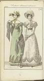 Journal des Dames et des Modes, edition Frankfurt 5 aout 1821, Costumes allemand et françois